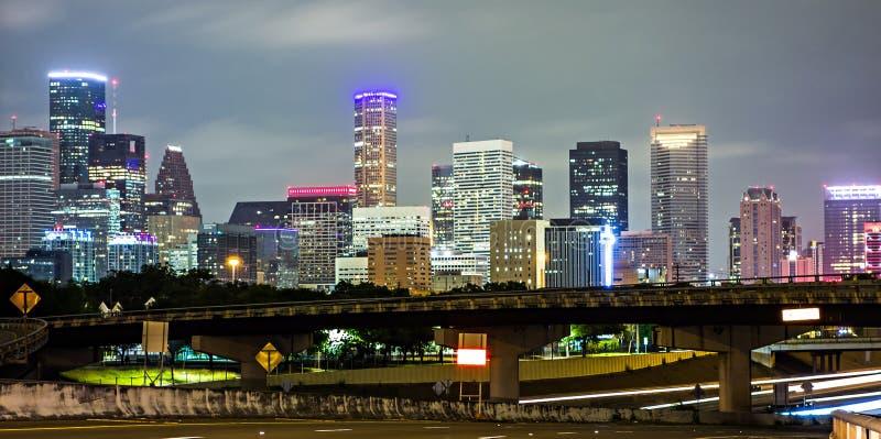 Houston texas skyline and downtown royalty free stock photo