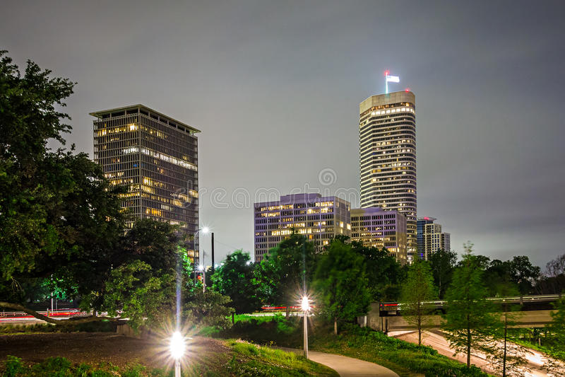 Houston texas skyline and downtown stock photo