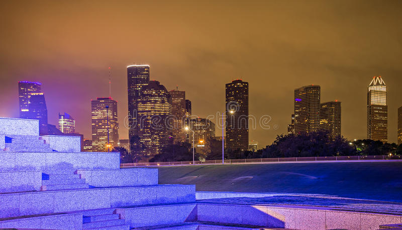 Houston texas skyline and downtown stock images