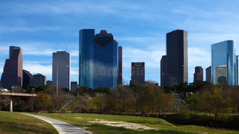 Houston, Texas skyline on a sunny day. The Houston, Texas skyline on a sunny day royalty free stock photography