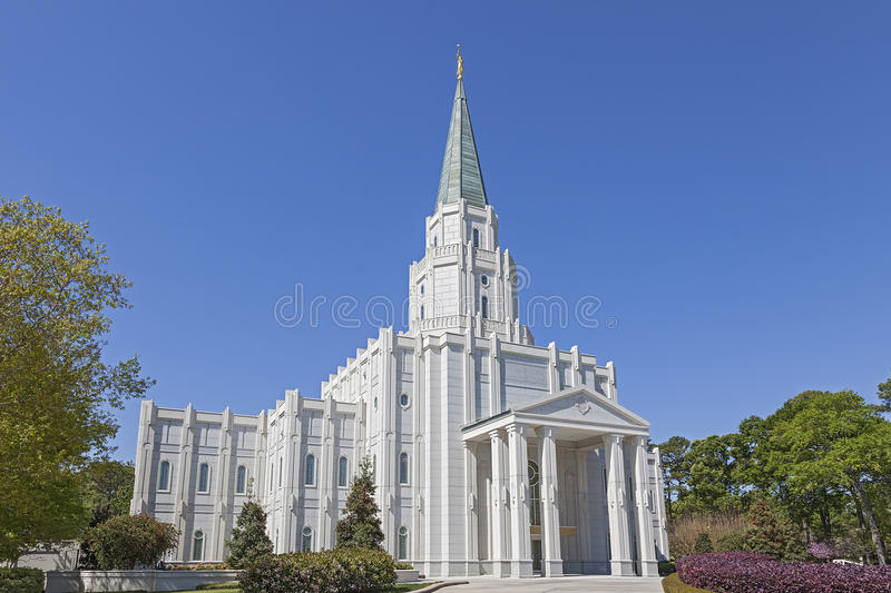 Houston Texas Temple images libres de droits