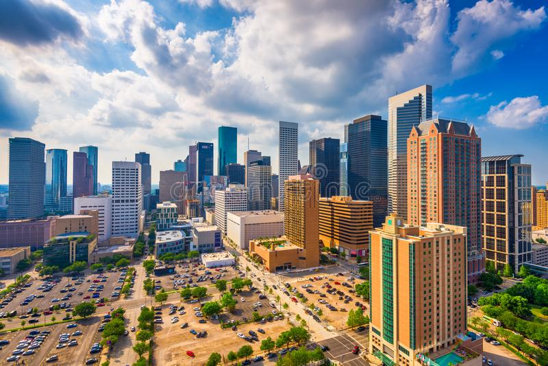 Houston Texas, USA horisont arkivfoto