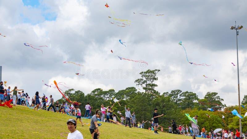 Houston, Texas, USA March, 24th, 2019 Kite Festival royalty free stock images