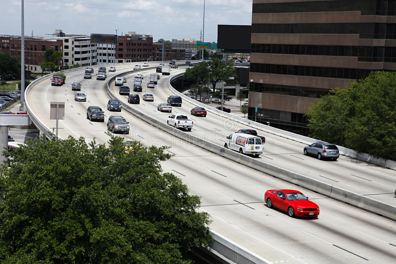 Houston Traffic - Interstate 45 stock photography