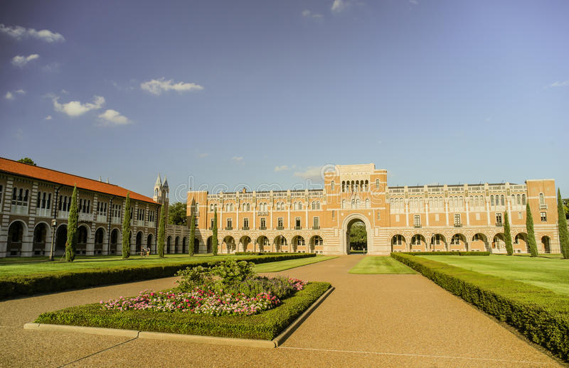 HOUSTON, TX - OCTOBER 10, 2013: Inside the courtyard of the Rice University, Houston, Texas royalty free stock photo