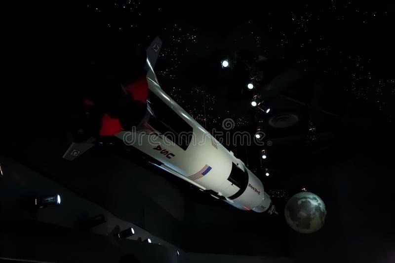 Houston, TX/USA - vers en juillet 2013 : Navette spatiale dans Lyndon B Johnson Space Center, Houston, le Texas photos libres de droits