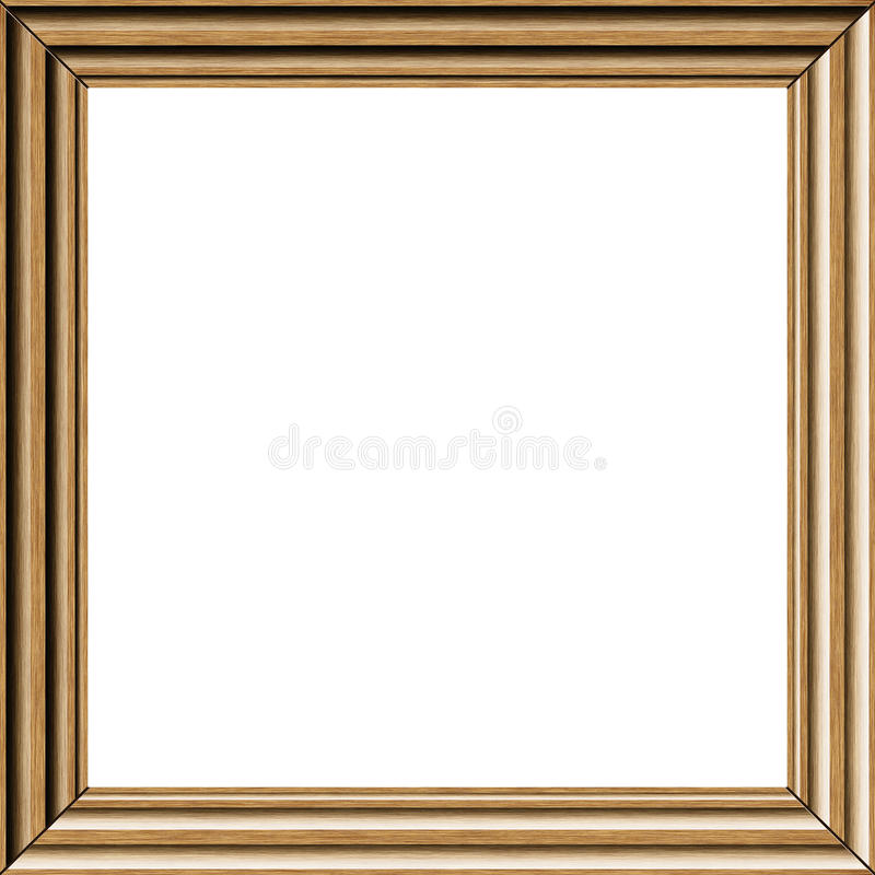 Hout photoframe vector illustratie
