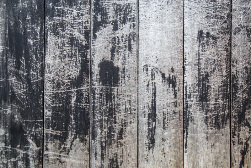 Hout zwarte textuurachtergrond royalty-vrije stock afbeeldingen