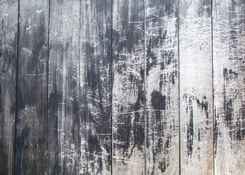 Hout zwarte textuurachtergrond stock fotografie