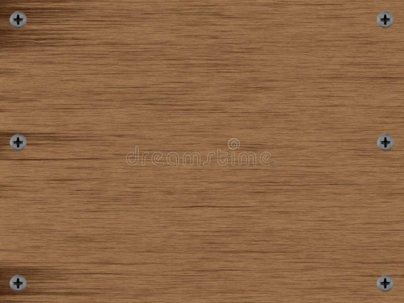 Houten achtergrond, hout en schroeven, horizontale niet-uniforme textuur stock afbeelding