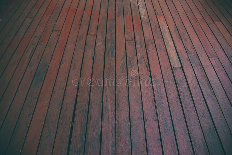 Houten achtergrond, perspectief houten vloer Uitstekende toon royalty-vrije stock afbeeldingen