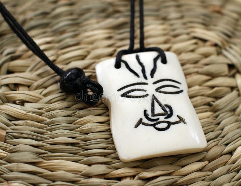 Houten Afrikaanse amulet royalty-vrije stock afbeelding