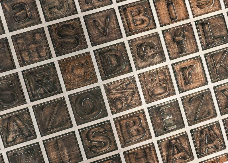 Houten alfabet stock fotografie