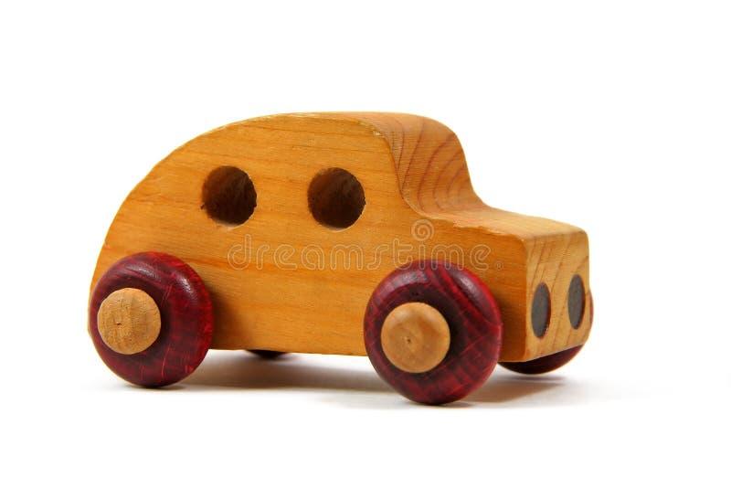 Houten Auto 1 van het Stuk speelgoed stock afbeelding