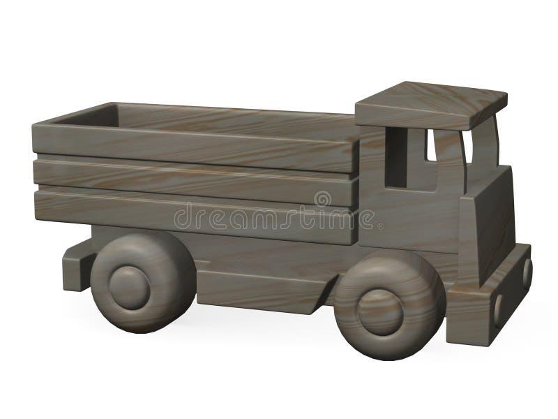 Houten auto stock illustratie