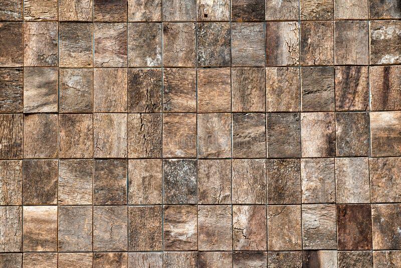 Houten bakstenentextuur met decoratieve woodgrain stock afbeelding
