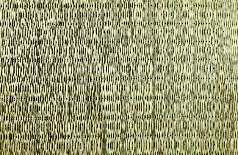 Houten Bamboe Mat Texture royalty-vrije stock afbeelding
