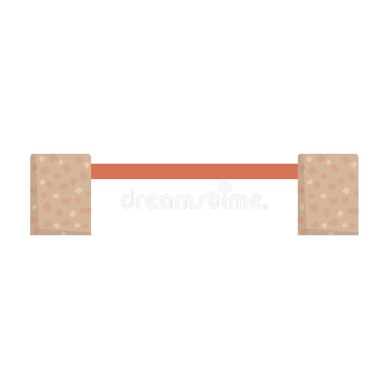 Houten bank met de vectorillustratie van steenbenen stock illustratie