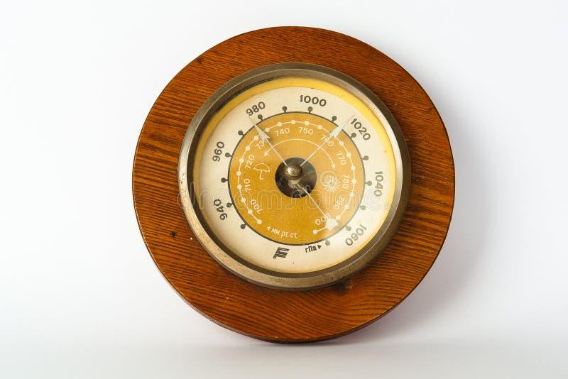 Houten barometer royalty-vrije stock fotografie
