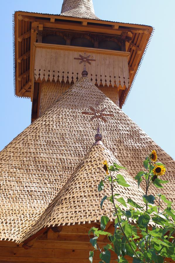 Houten Basiliek in Mangalia, Roemenië royalty-vrije stock afbeeldingen