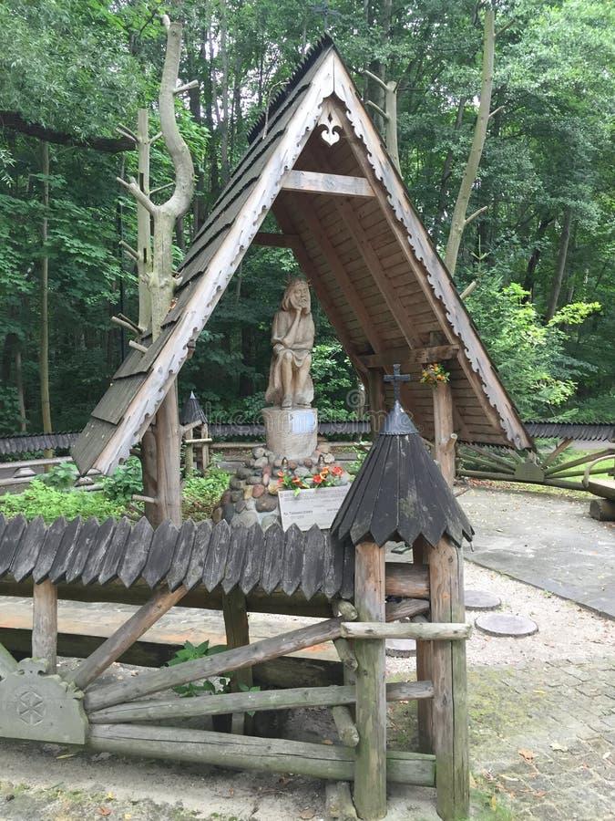 Houten beeldhouwwerk in het Park Sopot Polen royalty-vrije stock fotografie