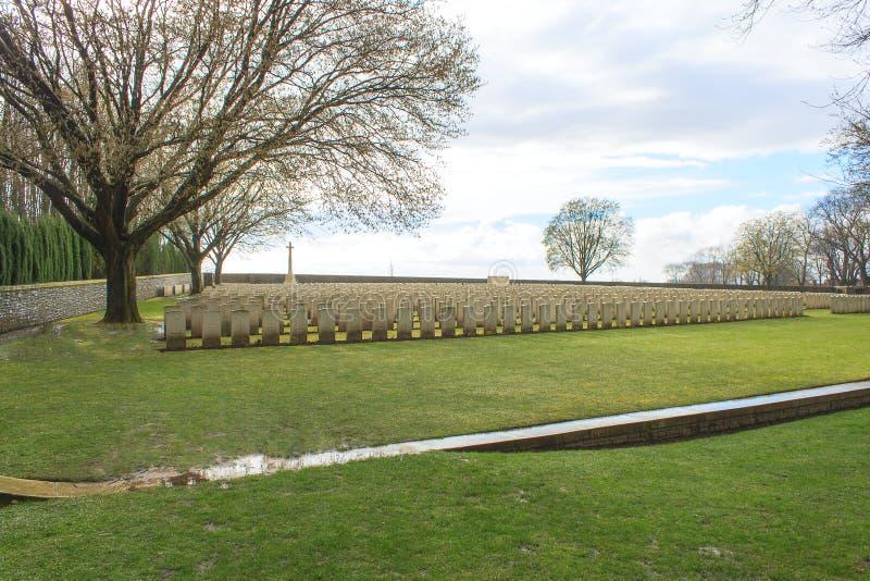 Houten Begraafplaats grote wereldoorlog één Vlaanderen België royalty-vrije stock foto