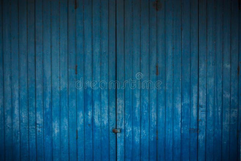 Houten blauwe achtergrond stock foto