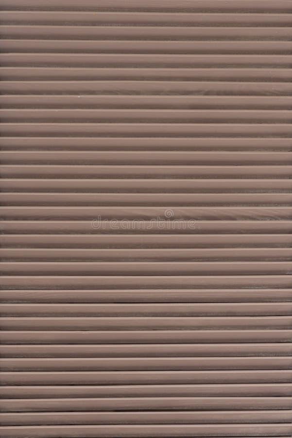 Houten blind Houten deur en vensterblind voor achtergrondtextuur stock foto's