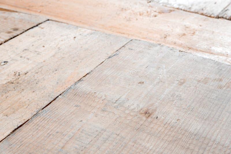 Houten blokkencollage als uitstekende achtergrond close-up van de korrel het houten textuur met selectieve nadruk stock afbeeldingen