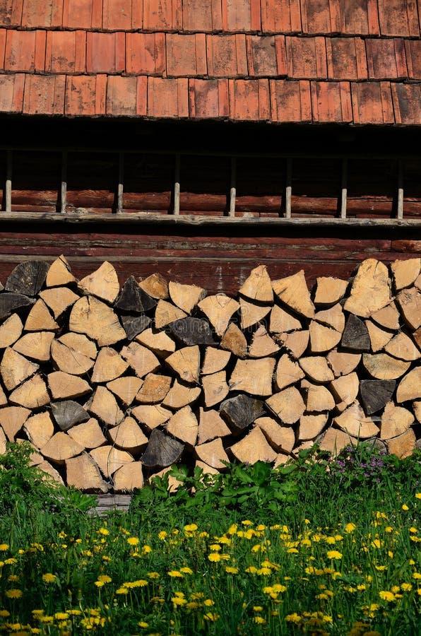 Houten boerderij stock afbeeldingen
