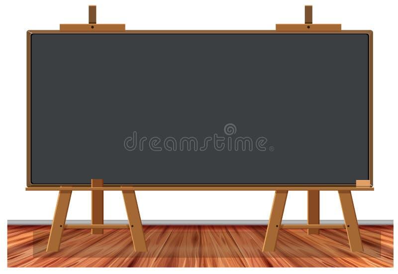 Houten bord op witte achtergrond stock illustratie