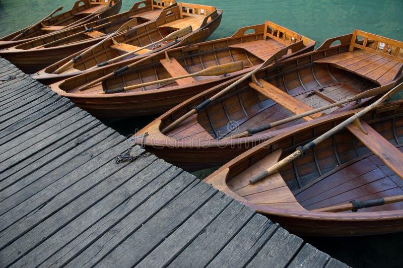 Houten boten stock fotografie