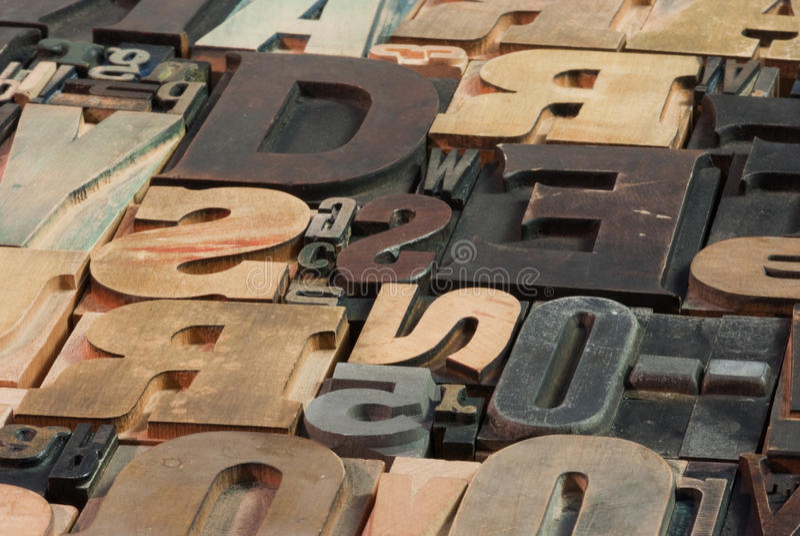 Houten brieven stock foto's