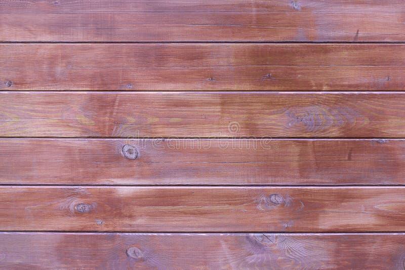 Houten bruine vrij van de textuurlijst Achtergrond van de boom, donkere kleurenraad, zonder voorwerpen Het oogsten houten horizon stock fotografie