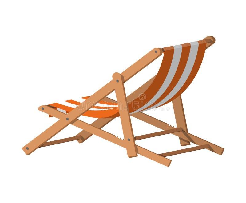 Houten chaise zitkamer royalty-vrije illustratie