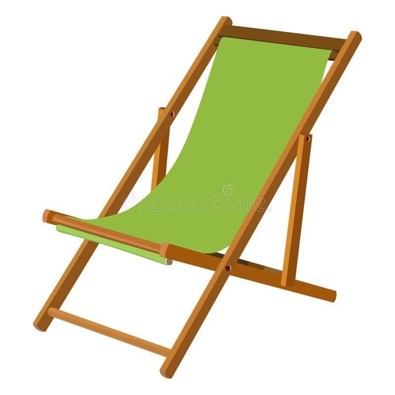 Houten chaise zitkamer vector illustratie