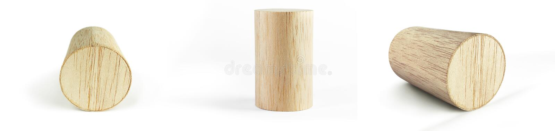 Houten cilinderblok stock fotografie