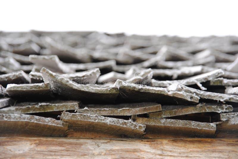 Houten dak Foto van het uiteinde royalty-vrije stock afbeeldingen