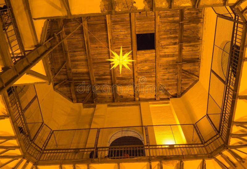 Houten dak van St Sophia Cathedral stock fotografie