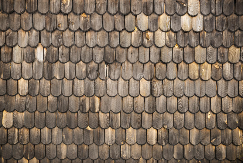 Houten dakspanentextuur stock fotografie