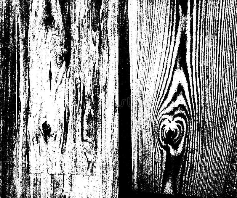 Houten de bekledingstextuur van de Plankennood voor uw ontwerp Vectorset royalty-vrije illustratie