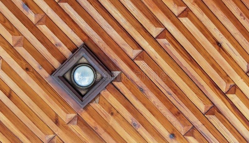 Houten details op het plafond royalty-vrije stock foto's
