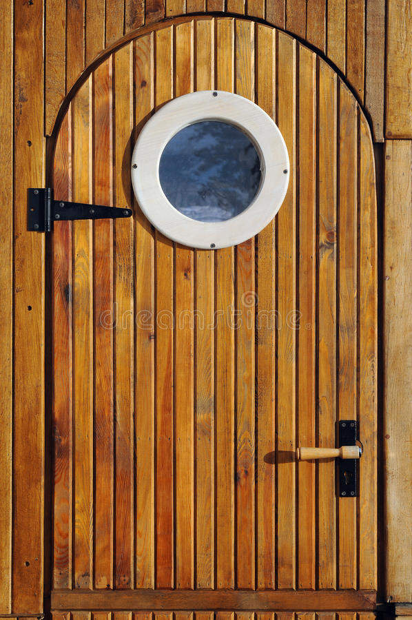 Houten deur stock fotografie