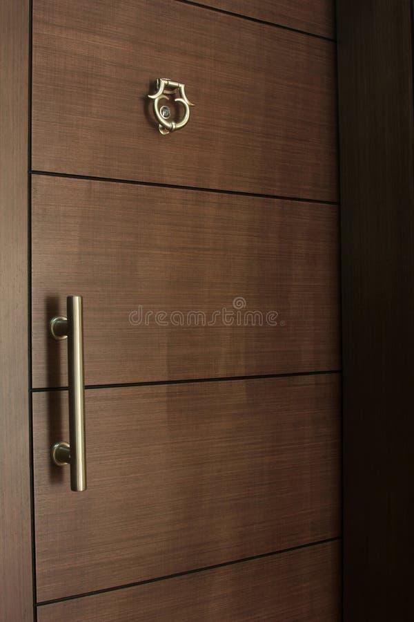 Houten deur royalty-vrije stock foto's