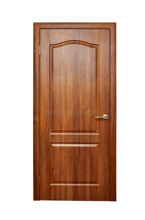 Houten deur, deuropening, ingang en uitgang van de ruimte stock afbeeldingen