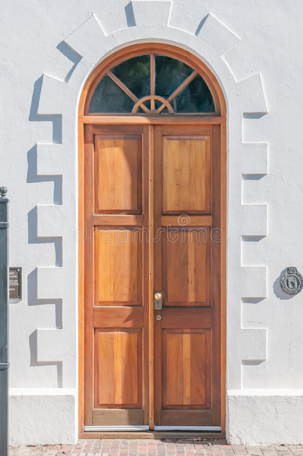 Houten deur in Graaff Reinet royalty-vrije stock foto's