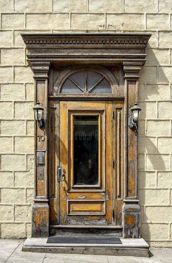 Houten deur Oud Quebec royalty-vrije stock fotografie