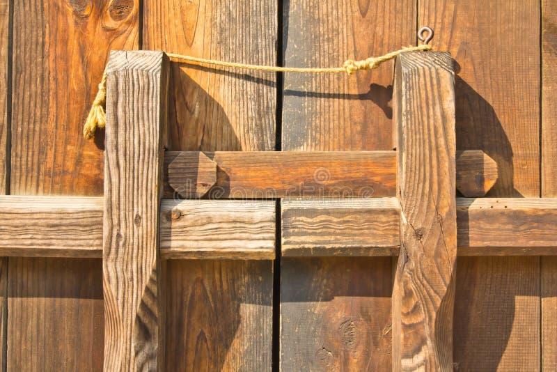Houten deuren. stock fotografie