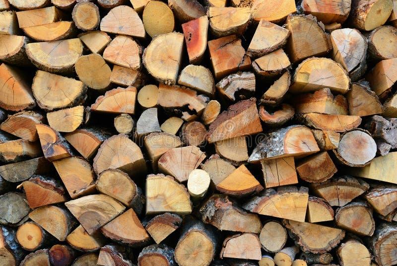 Textuur van houten logboeken royalty-vrije stock afbeelding