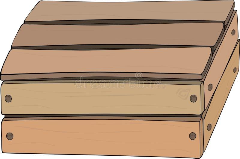 Houten doos vector illustratie